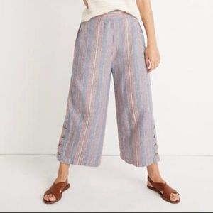 Madewell Side-Button Huston Pull-On Crop Pants-S